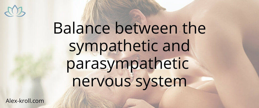 Balance between the sympathetic and parasympathetic nervous system